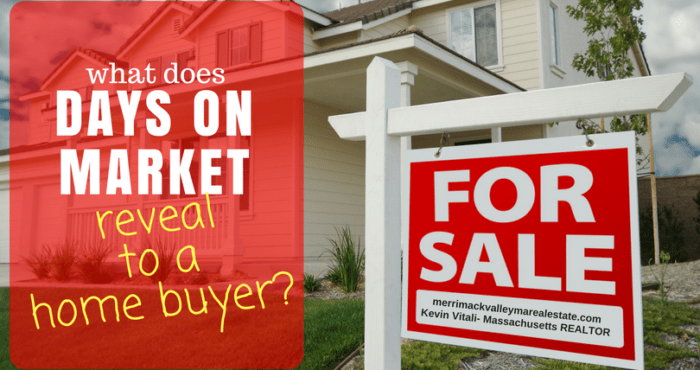 days on market data what does it mean to a home buyer